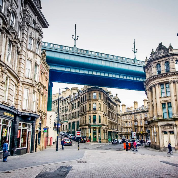 Tyne Bridge with Traditional Architecture, City of Newcastle upon Tyne
